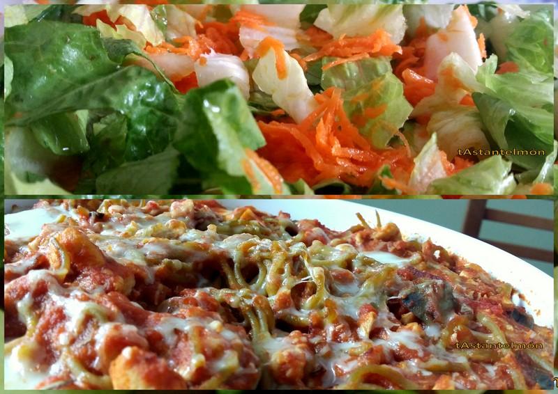 espaguetis, i amanida